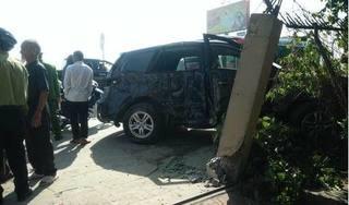 Nhân chứng vụ xe khách tông xe 7 chỗ ở Thanh Hóa: Sau cú tông, 8 người bất tỉnh