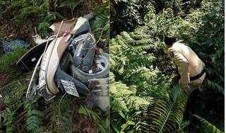 Hai vợ chồng đi xe máy lao xuống vực sâu ở Tam Đảo