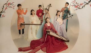 Phi Nhung và các con chụp hình chung tặng fan năm mới