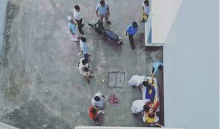 Cô gái trẻ nguy kịch sau khi rơi từ tầng cao bệnh viện xuống đất