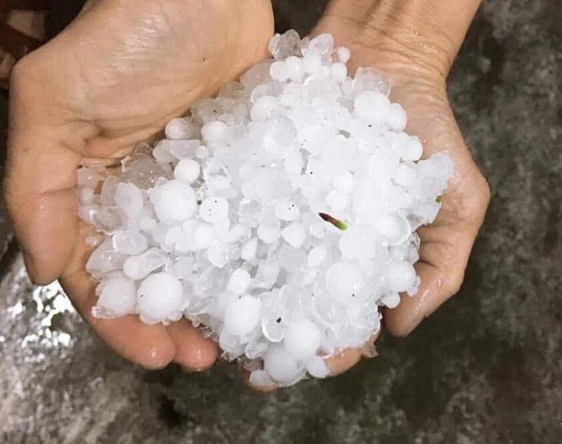 Mưa đá gây thiệt hại lớn ở Lào Cai