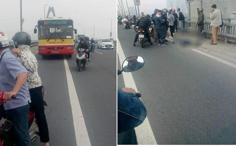 Xe máy va chạm với xe buýt người đàn ông bị cán tử vong
