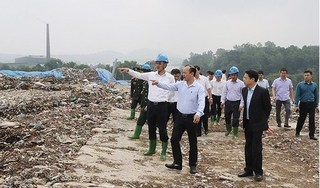 Phó Bí thư Thành ủy Hà Nội thị sát khu xử lý chất thải rắn Xuân Sơn
