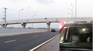 Hàng loạt ô tô bị ném đá trên cao tốc Hạ Long - Hải Phòng