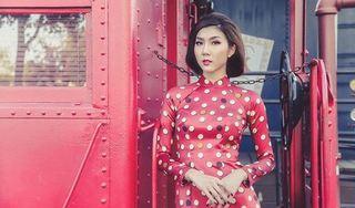 Sau lùm xùm ly hôn chồng cũ, Ngọc Quyên khoe vẻ kiêu sa trong tà áo dài