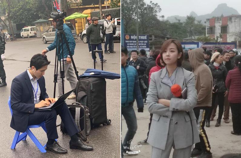 Dân mạng 'phát sốt' vì vẻ đẹp của nam nữ phóng viên Hàn Quốc tác nghiệp tại Việt Nam