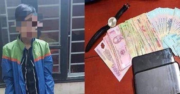 Siêu trộm 10X đột nhập nhà dân 'khoắng' hàng chục triệu đồng trong cốp ô tô