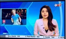 Nữ MC thể thao khoe vòng 1 'lấp ló' trên sóng truyền hình là ai?