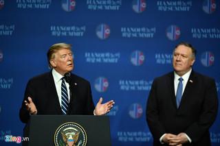 Tổng thống Trump chưa nghĩ đến hội nghị tiếp theo với Triều Tiên