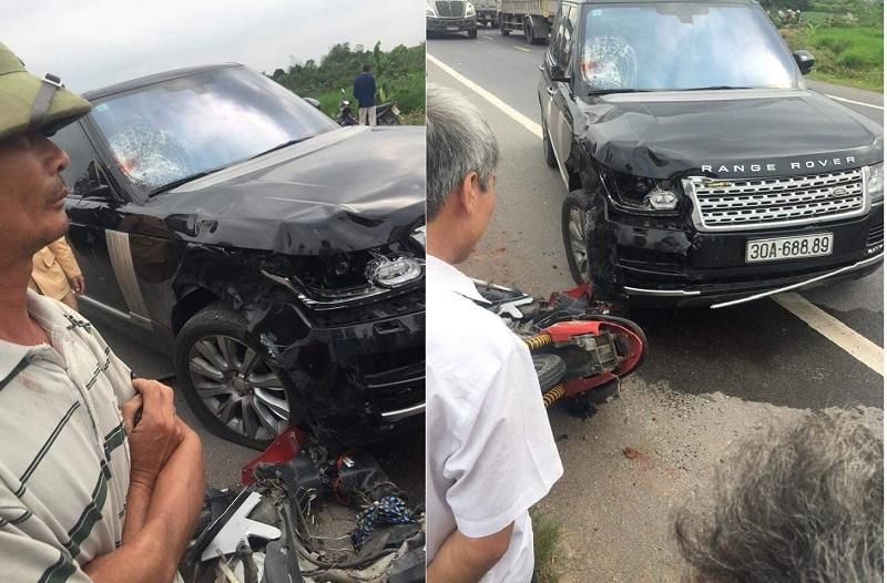 Xe Range Rover va chạm với xe máy, 2 vợ chồng thương vong