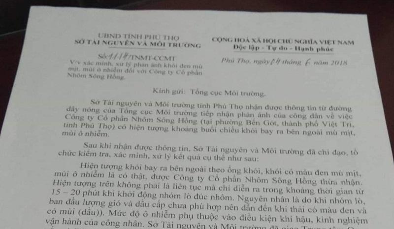 Phú Thọ: Công ty CP Nhôm Sông Hồng xả thài gây ô nhễm, chính quyền ở đâu?3