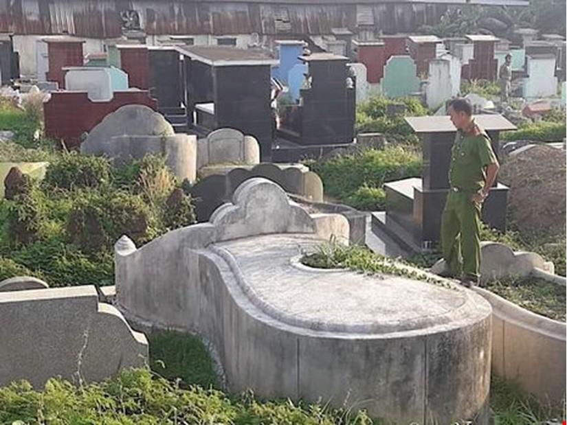 Phát hiện người phụ nữ tử vong bất thường ở nghĩa địa