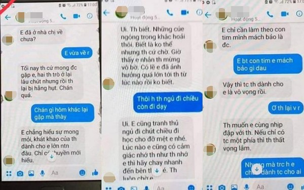 Thầy giáo trường chuyên nhắn tin gạ tình nữ sinh lớp 10
