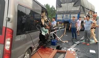 Lời khai tài xế xe khách tông đuôi container trên cao tốc Pháp Vân làm 2 người tử vong