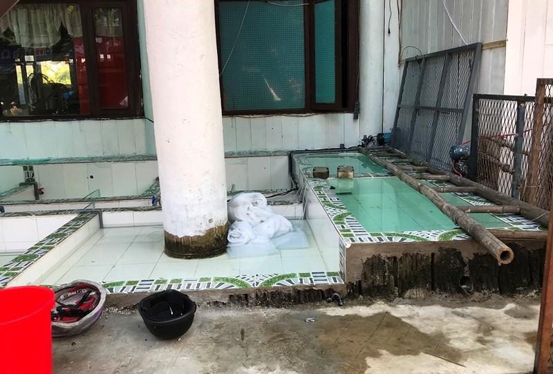 1 công nhân chết thương tâm vì điện giật khi sửa hồ cá