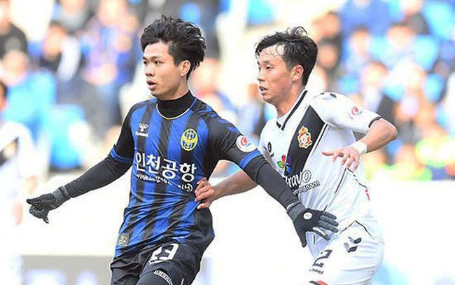 tiền đạo Công Phượng ghi cú đúp bàn thắng vào lưới của Đại học Cyber Hankuk.