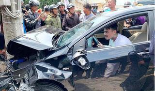 Thanh niên 'ngáo đá' điều khiển ô tô gây tai nạn liên hoàn khiến nhiều người bị thương