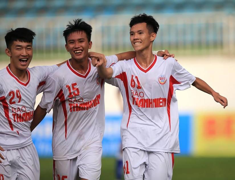 U19 HAGL vào chung kết U19 quốc gia sau chiến thắng thuyết phục SLNA. Ảnh: Bongda