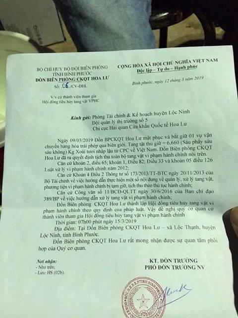 Vụ đồn biên phòng mật phục bắt giữ 6,6kg xoài lậu: Lỗi tại đánh máy