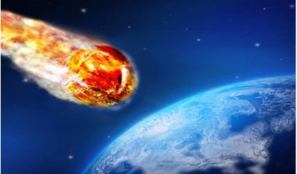 Một thiên thạch đang lao nhanh về phía trái đất