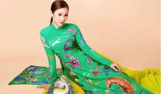 Á hậu 'vòng ba 1 mét' Thanh Trang diện áo dài kêu gọi bảo vệ môi trường biển