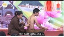 Hoảng với cách chữa đau lưng dùng dầu hoả của cô Yến chùa Ba Vàng