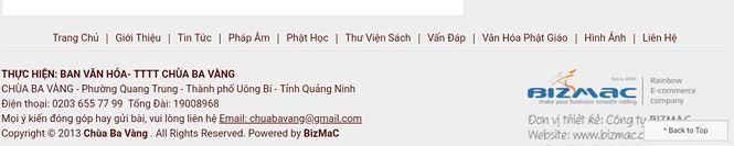Hàng trăm bài viết gọi vong và số tài khoản trên website chùa Ba Vàng biến mất