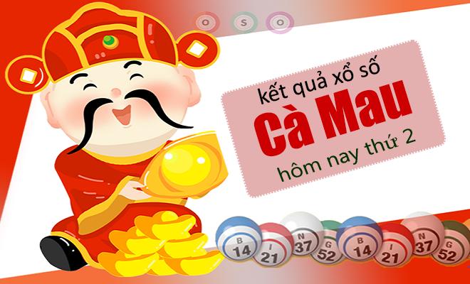XSCM 8/4 - Kết quả xổ số Miền Nam tỉnh Cà Mau thứ 2 ngày 8/4/2019