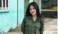 Nữ sinh Ngoại thương nhận 'bão like' khi đi học quân sự