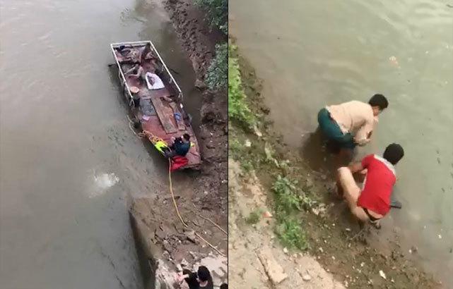 Nam Định: Nhiều giờ tìm kiếm thi thể người đàn ông đuối nước dưới sông3