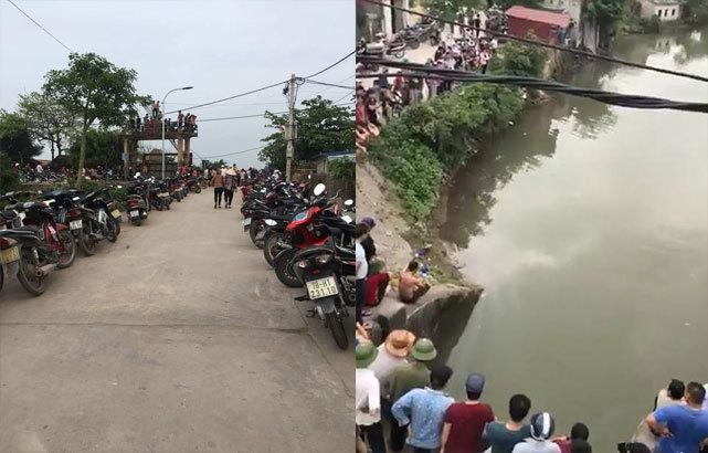 Nam Định: Nhiều giờ tìm kiếm thi thể người đàn ông đuối nước dưới sông2