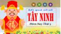 XSTN 4/4 - Kết quả xổ số Miền Nam tỉnh Tây Ninh thứ 5 ngày 4/4/2019