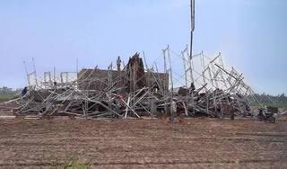 Nam Định: Sập giàn giáo xây dựng cây xăng, một người tử vong