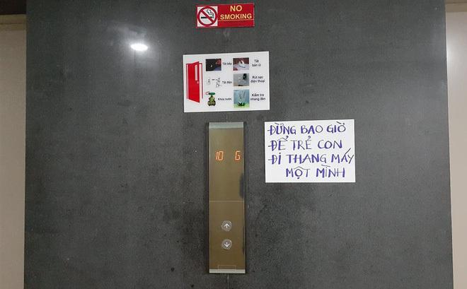 Vụ bé gái bị sàm sỡ trong thang máy: Hàng loạt chung cư dán cảnh báo