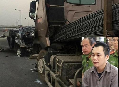 Lại gia hạn tạm giam tài xế xe container đâm Innova lùi trên cao tốc
