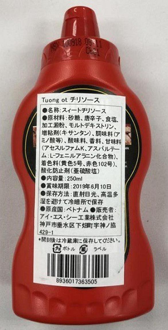 Bộ Y tế nói gì về việc 18000 chai tương ớt Chinsu bị thu hồi tại Nhật 2