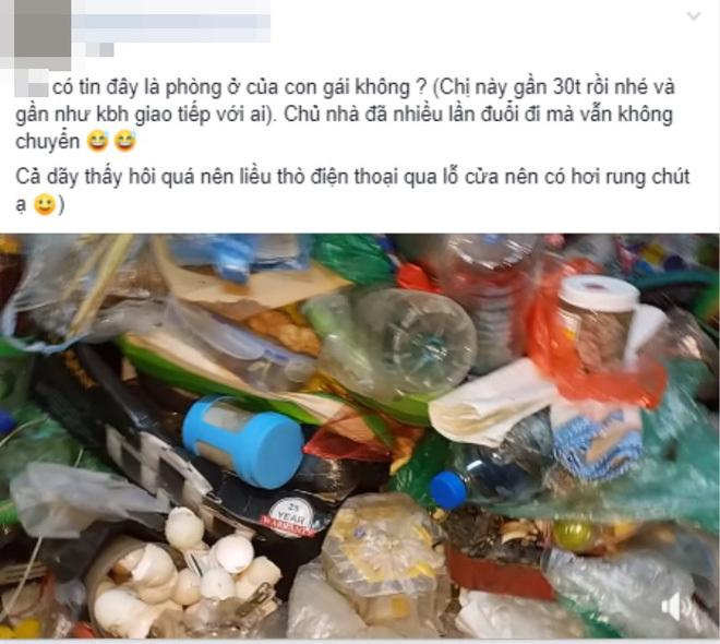 Clip: Phát hoảng với hình ảnh rác chất ngập phòng của cô gái 30 tuổi