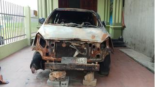 Thanh Hóa: Đột nhập nhà dân lúc nửa đêm để châm lửa đốt ô tô