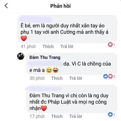 Đàm Thu Trang khẳng định chủ quyền với Cường Đô la