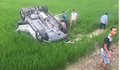 Hải Dương: Ô tô mất lái lao xuống ruộng lúa, tài xế tử vong
