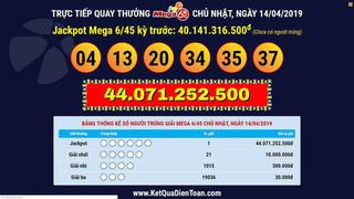 Một khách hàng ở Cà Mau may mắn trúng thưởng Vietlott 44 tỷ