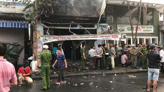 Cửa hàng xe máy điện bốc cháy trong đêm, 3 người trong 1 gia đình tử vong