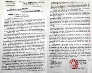 Vụ 'hôi' vạng: Xã khẳng định không 'cướp' hàng tỷ đồng tiền vạng của dân