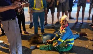 Hiện trường xe 'điên' gây tai nạn liên hoàn khiến nữ công nhân môi trường tử vong