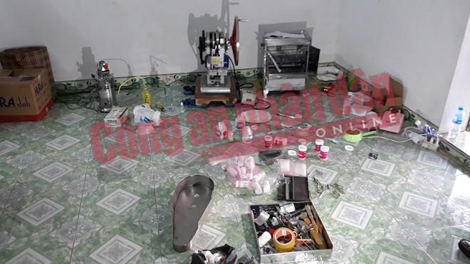 Triệt phá 'xưởng' sản xuất ma túy tổng hợp tại Nam Định