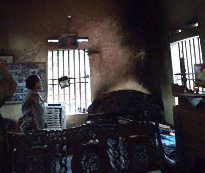 Hà Nam: Người phụ nữ phóng hoả đốt nhà trong đêm khiến 2 bố mẹ bị thương