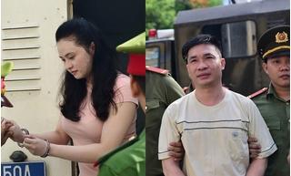 Hình ảnh đầu tiên của hot girl Ngọc Miu cùng trùm ma túy Văn Kính Dương tại tòa