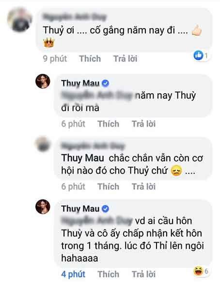 Mâu Thủy mong ai cầu hôn Hoàng Thùy để thi Miss Universe 2019