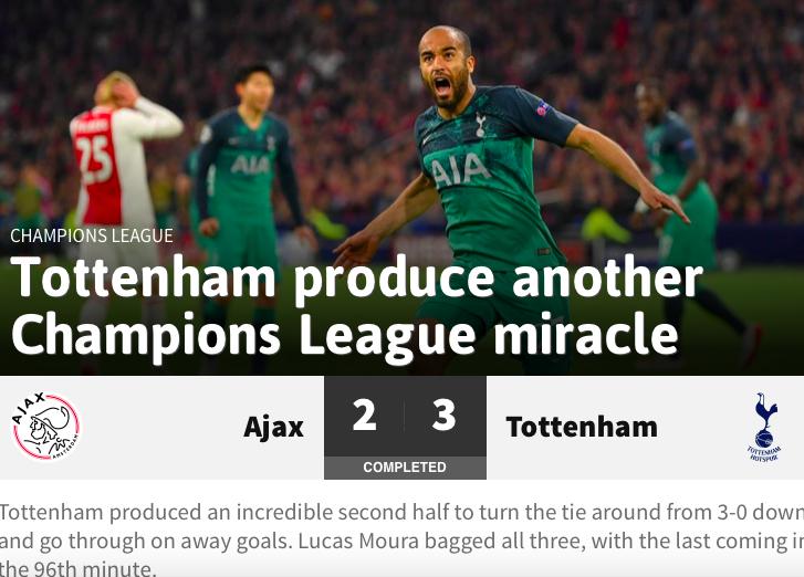 Báo chí quốc tế 'nổ tung' sau trận lội ngược dòng kì diệu của Tottenham
