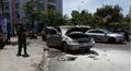 Ô tô 7 chỗ đang chạy đột nhiên bốc cháy đối diện trụ sở CSGT Nha Trang
